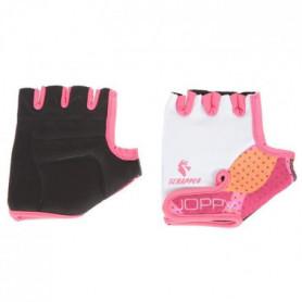 SCRAPPER Gants de cyclisme Joppy 8 - Enfant fille - Blanc et rose