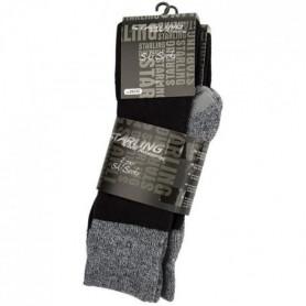 STARLING Lot de 2 Chaussettes de randonnée Hiver - Mixte - Noir 39/42