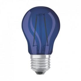 OSRAM Ampoule déco LED sphérique E27 - Bleue