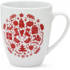ABS T1904308-2X set de 2 mug avec decal 32cl forme boule
