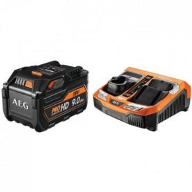 AEG POWERTOOLS Chargeur rapide + 1 batterie 18 Volts Li-Ion 9,0Ah