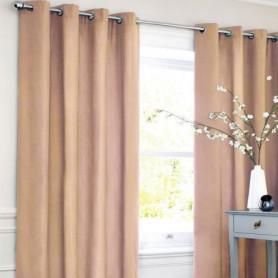 Rideau coton LOOK - Rose nude - 140x250 cm