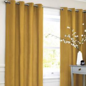 Rideau coton LOOK - Jaune - 140x250 cm