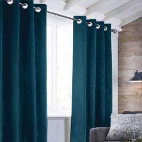 Rideau sueden 100% Polyester - Bleu intense - 140x250 cm