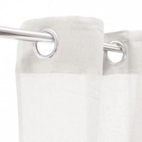 Voilage 100% coton - Blanc - 105x250 cm