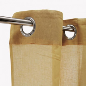 Voilage 100% coton - Beige naturel - 105x250 cm