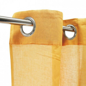Voilage 100% coton - Jaune - 105x250 cm