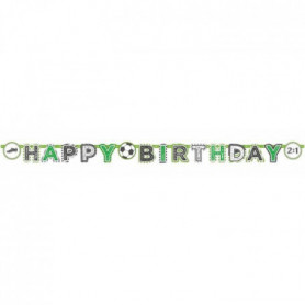 AMSCAN Guirlande lettres Happy Birthday Kicker Party 200 x 15 cm