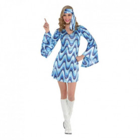 AMSCAN Disco Blue Costume Femme - Robe et bandeau