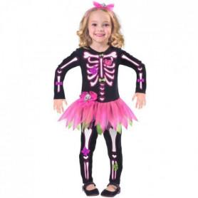 AMSCAN Costume Petit Squelette Rose - Enfant