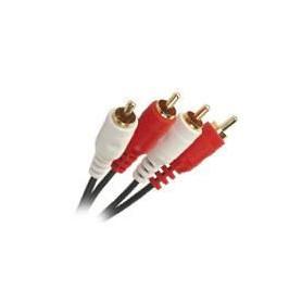 APM 417005 Cordon 2 RCA Mâle / 2 RCA Mâle - Plugs or - 5 m
