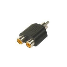 APM 422001 Adaptateur 1 RCA Mâle / 2 RCA Femelles - Nickel