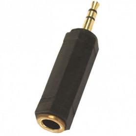 APM 422011 Adaptateur Jack 3,5 mm Stéréo / Femelle 6,35 mm Stéréo