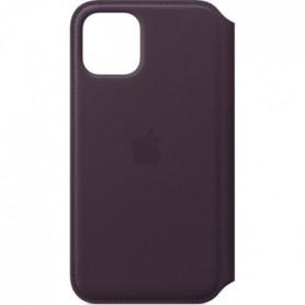 APPLE  Étui folio en cuir Aubergine pour iPhone 11 Pro