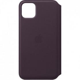 APPLE Étui folio en cuir Aubergine pour iPhone 11 Pro Max
