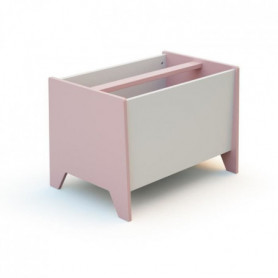 AT4 Bac a jouets - Rose/blanc