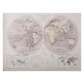 ATMOSPHERA Toile imprimée monde - 58x78x2,5 cm