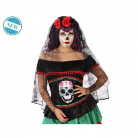 ATOSA - Coiffe Fleurie et Dentelle - Los Muertos - Femme