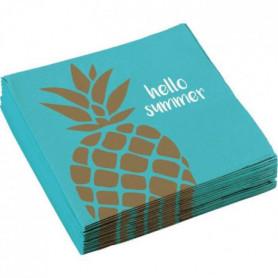 AMSCAN Lot de 20 Serviettes Ananas 33 x 33 cm