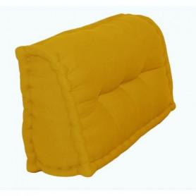Dossier Cale-Reins 100% coton 60x22/11xH45 cm MOUTARDE