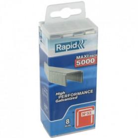 RAPID 5000 agrafes n°53 Rapid Agraf 8mm