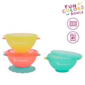 BADABULLE Funcolors Bowls x3