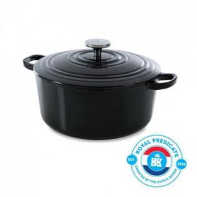 BK Cookware H6071.528 BK Bourgogne Cocotte en Fonte Ronde - 28 cm