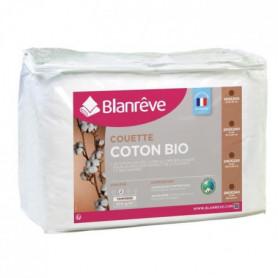 BLANREVE Couette tempérée Coton BIO - 300g/m² - 240x260cm