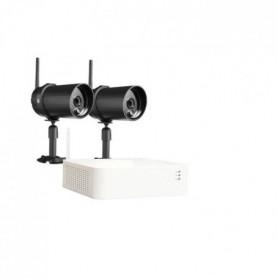 CHACON Kit enregistreur vidéosurveillance sans fil IP + 2 Caméras