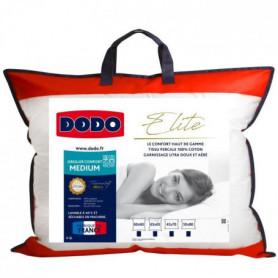 DODO Oreiller ELITE 100% Percale de Coton Confort Medium 45x70cm