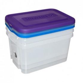 ALLIBERT Boîte de rangement Handy - Couvercle bleu