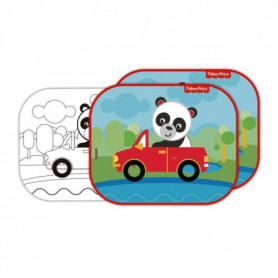 FISHER PRICE Lot de 2 pare-soleils - Panda + feuilles a colorier