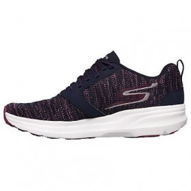SKECHERS Baskets de runnig Go Run Forza 3 - Femme - Gris et rose 36