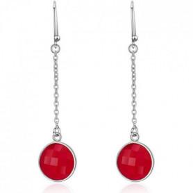 COQUELICOT Boucles d'oreilles argent/Rubis Teint