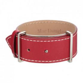 MAC DOUGLAS Bracelet Acier Cuir Rouge Mac Douglas