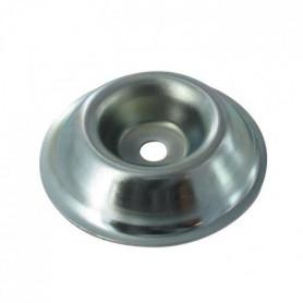 JARDIN PRATIQUE Coupelle d'appui en acier - Alésage 10 mm - ø 85 mm