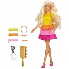 Barbie - Barbie Coffret Barbie Cheveux Bouclés - 5 ans et +