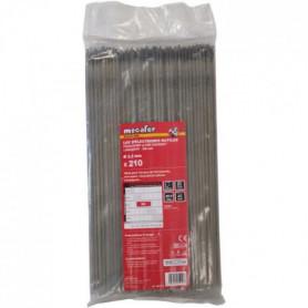 MECAFER Lot de 210 électrodes acier - Ø 2.5 mm L 300 mm