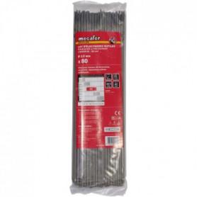 MECAFER Lot de 80 électrodes acier - Ø 2.5 mm L 300 mm