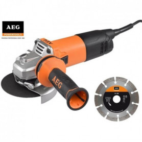 AEG POWERTOOLS Meuleuse 1000 Watts Ø 125 mm + 2 disques diamant