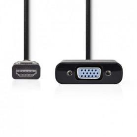 NEDIS HDMI™ - VGA Cable - HDMI™ Connector  -  VGA Female + 3.5 mm