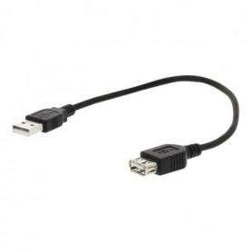 NEDIS USB 2.0 Cable - A Male - A Female - 3.0 m - Noir