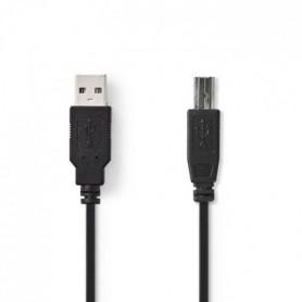 NEDIS USB 2.0 Cable - A Male - B Male - 3.0 m - Noir