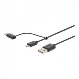 NEDIS 2-in-1 Sync and Charge Cable - USB à Male - USB Micro B