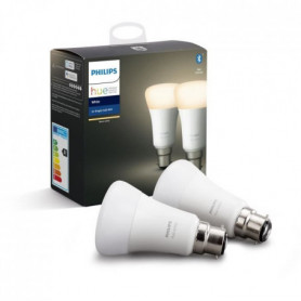 PHILIPS HUE Pack de 2 ampoules White - 9,5 W - B22 - Bluetooth