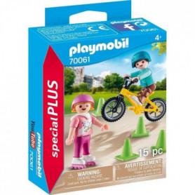 PLAYMOBIL 70061 - Enfants avec vélo et rollers
