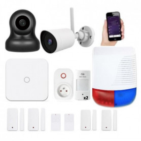 NEW DEAL Pack Alarme maison LAN / WIFI / GSM Live Pro-L15
