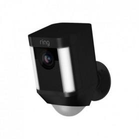 RING Caméra de surveillance sans fil Spotlight - Noir