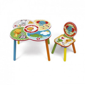 FISHER PRICE - Table et 1 chaise en bois