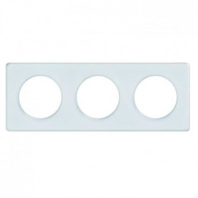 SCHNEIDER ELECTRIC Plaque 3 postes Odace Touch blanc translucide